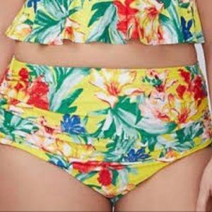 NWT Cacique High Rise Floral Swim Bottoms - 20